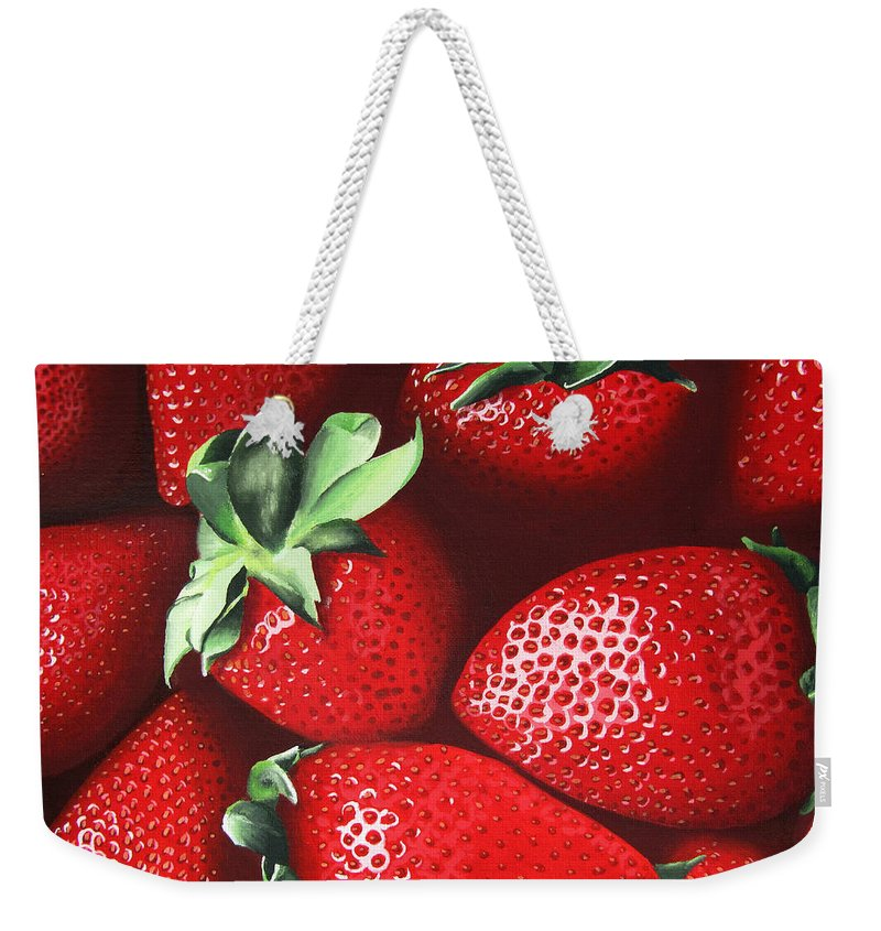 Summer Weekender Tote Bag featuring the painting Summer's Bounty by Kayleigh Semeniuk