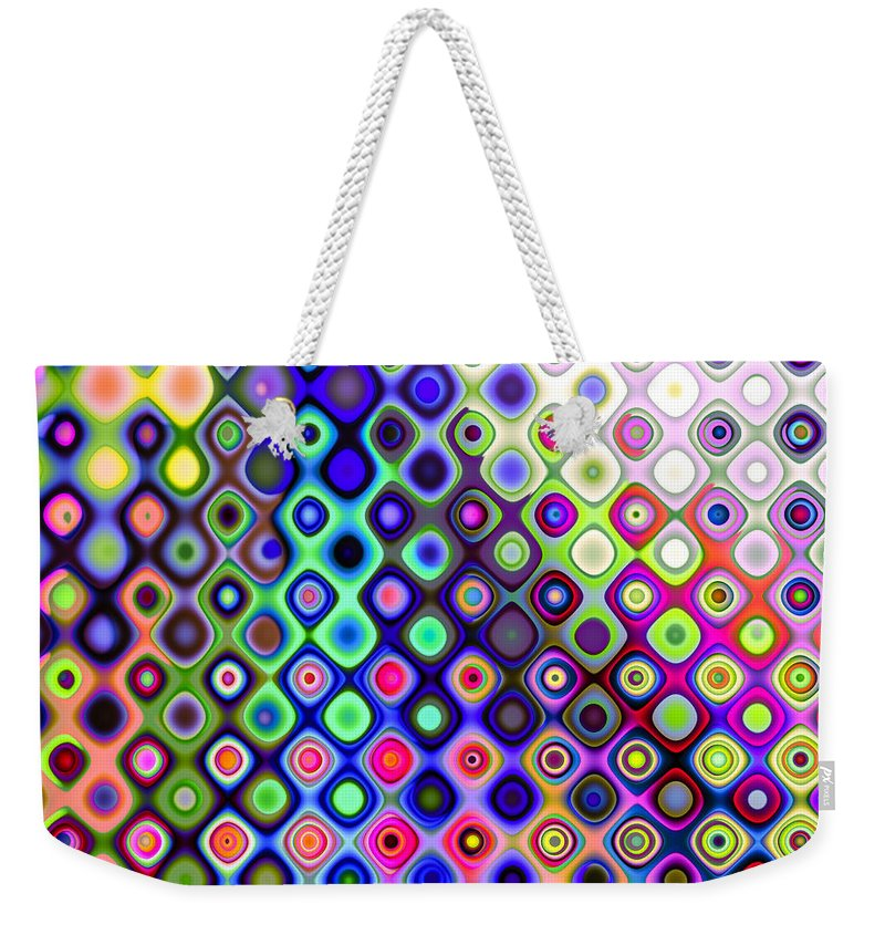 Abstract Weekender Tote Bag featuring the digital art Summer's Colourful Nights by Hakon Soreide