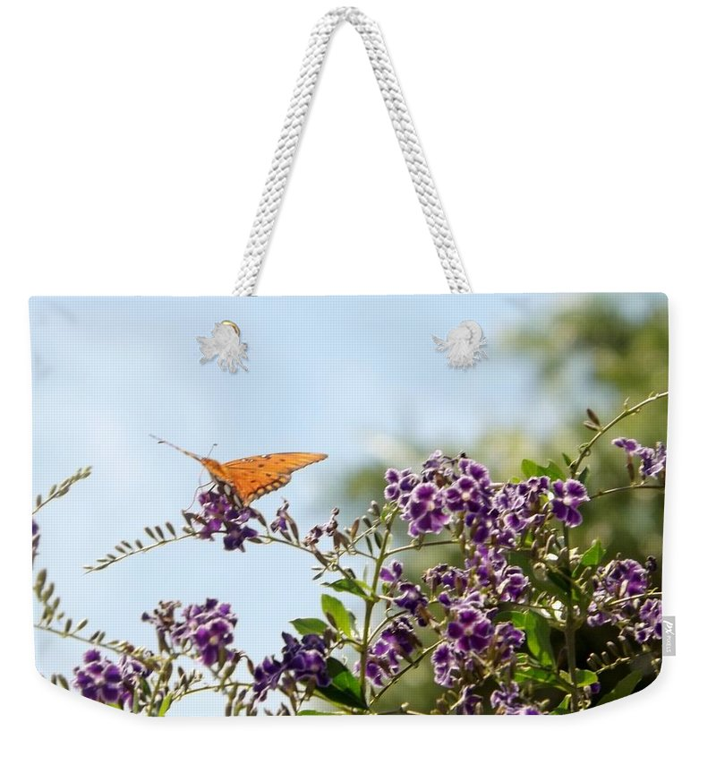 Butterfly Weekender Tote Bag featuring the photograph Summer's Day by Linda Kerkau