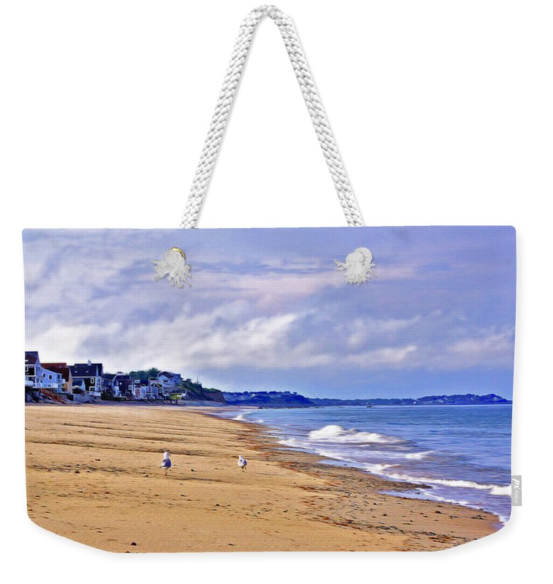 Humarock Beach Weekender Tote Bag featuring the photograph Summer's End by Carol Sutherland