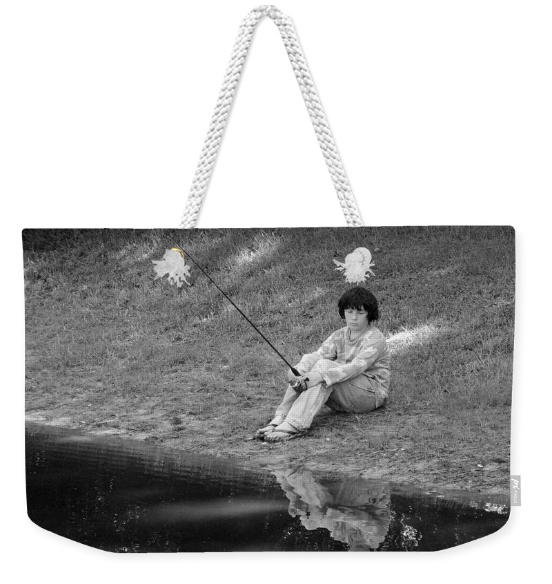 Summer Weekender Tote Bag featuring the photograph Summertime Reflection by J M Farris Photography