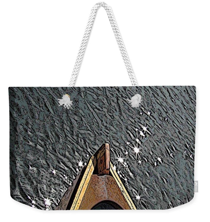 Summer Weekender Tote Bag featuring the digital art Summertime Serenity by Tim Allen