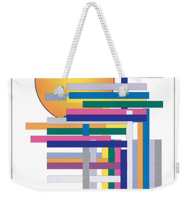 Contemporary Weekender Tote Bag featuring the digital art Sun City by Bjorn Sjogren