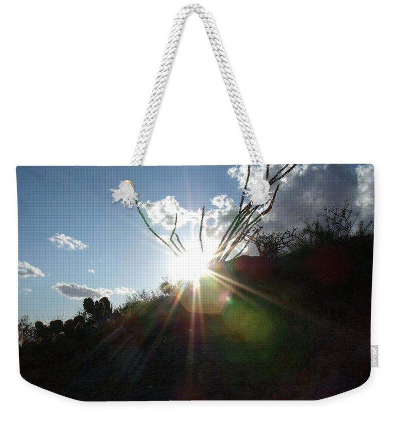 Sun Weekender Tote Bag featuring the photograph sun by David S Reynolds