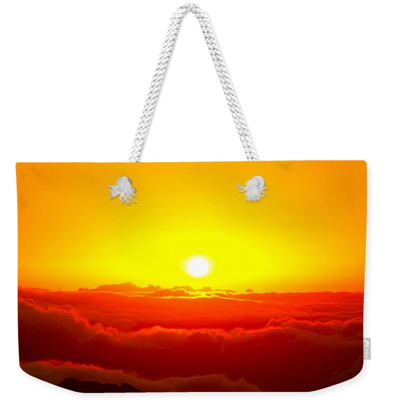 Clouds Weekender Tote Bag featuring the photograph Sun Goddess by Stephen Edwards