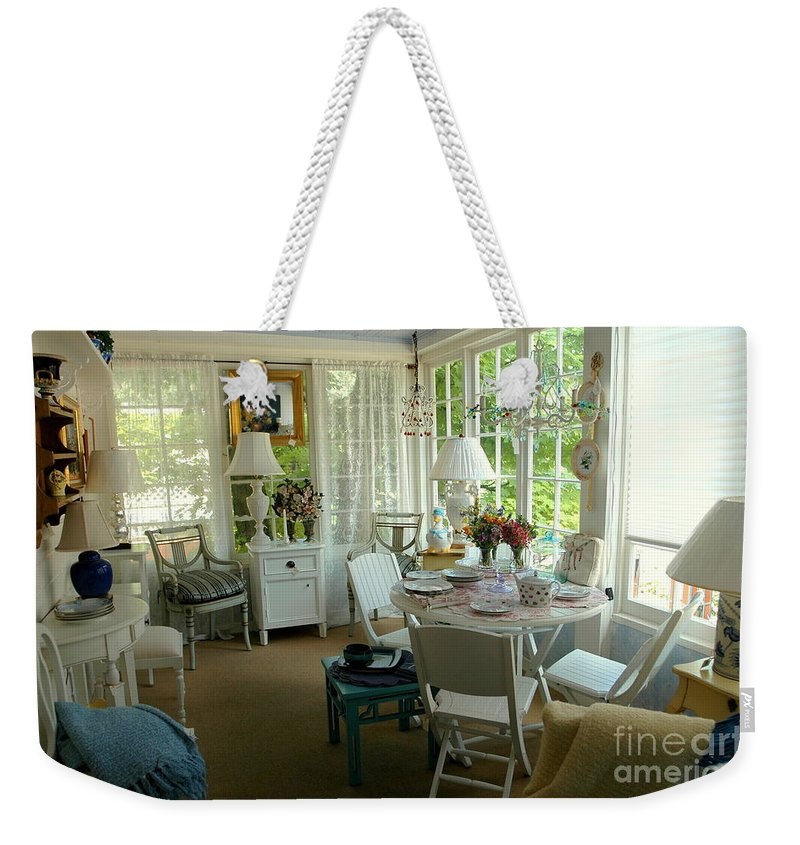 Sun Weekender Tote Bag featuring the photograph Sun Room by Kathleen Struckle