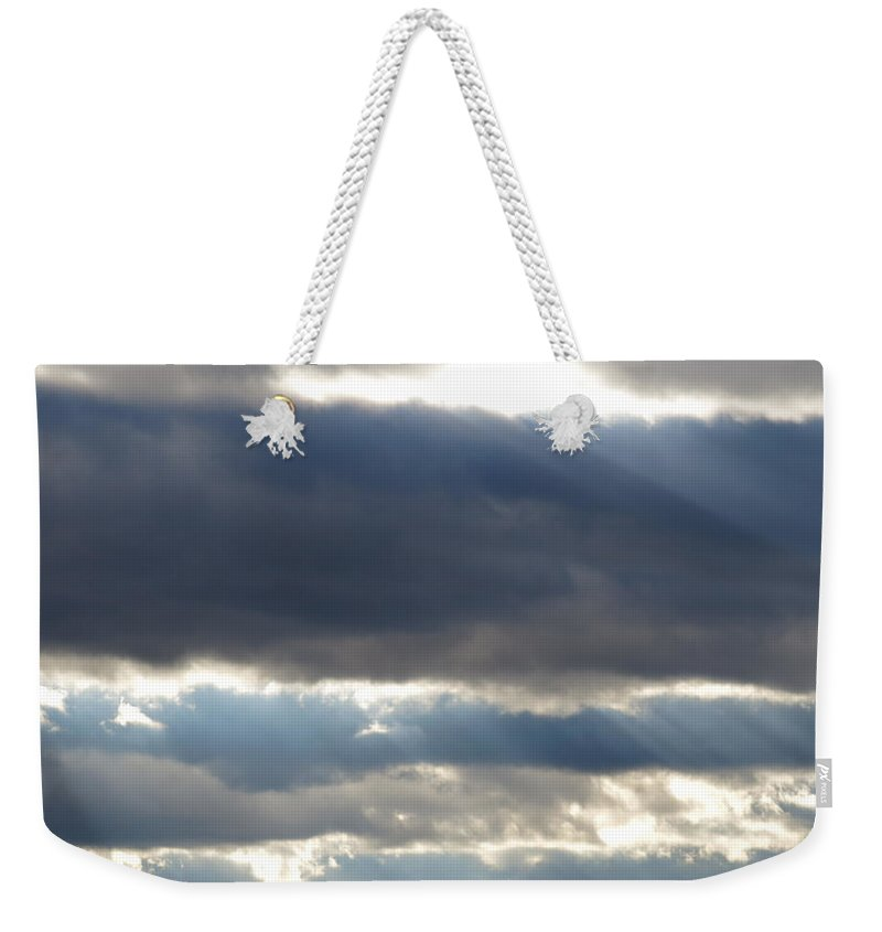 Sky Weekender Tote Bag featuring the photograph Sun Stairs by Jean Macaluso