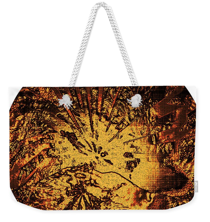 Sun Weekender Tote Bag featuring the digital art Sun - The Star Sign Of Lion by Klara Acel