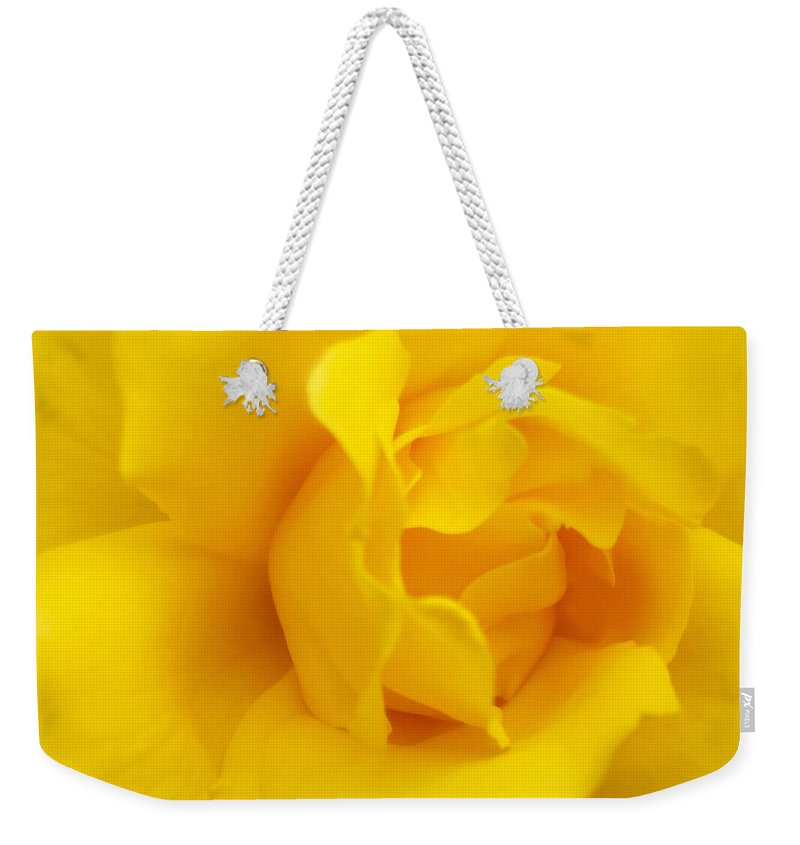 Rose Weekender Tote Bag featuring the photograph Sunburst Rose Flower by Jennie Marie Schell