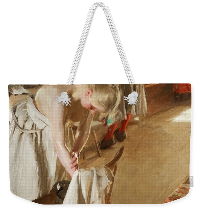 Anders Zorn Weekender Tote Bag featuring the digital art Sunday Morning by Anders Zorn
