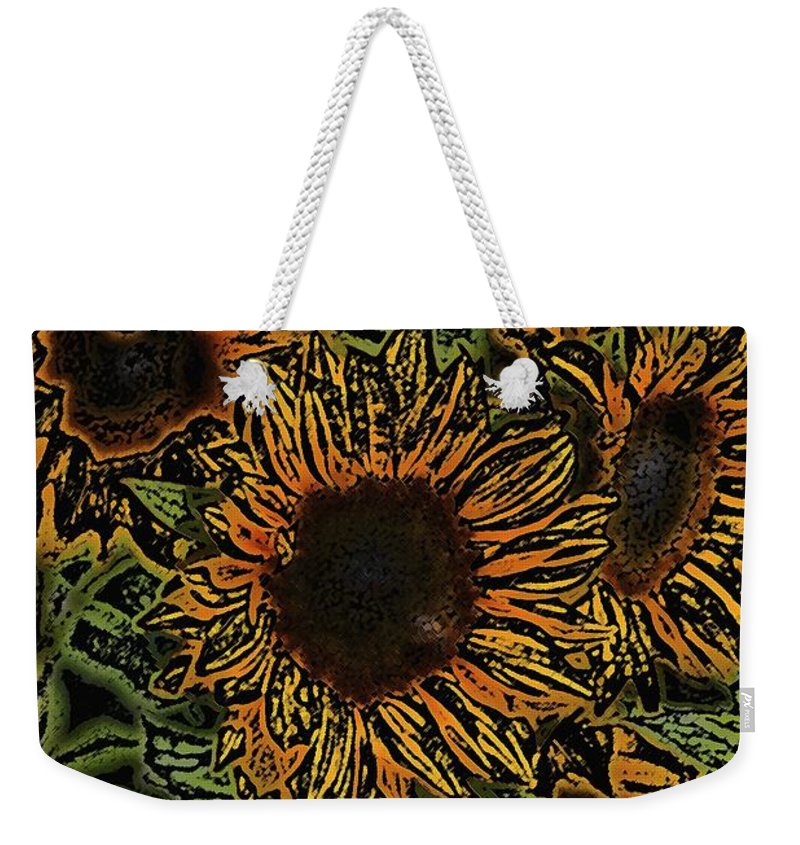 Floral Weekender Tote Bag featuring the photograph Sunflower 18 by Pamela Cooper