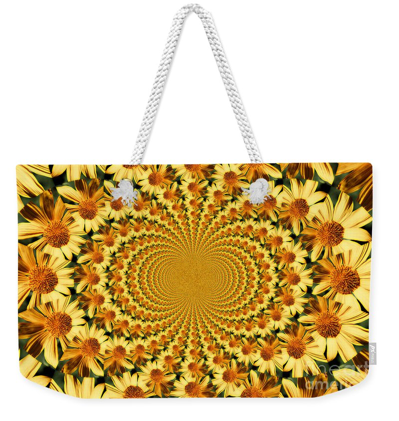 Sunflowers Weekender Tote Bag featuring the photograph Sunflower Dance by Clare Bevan