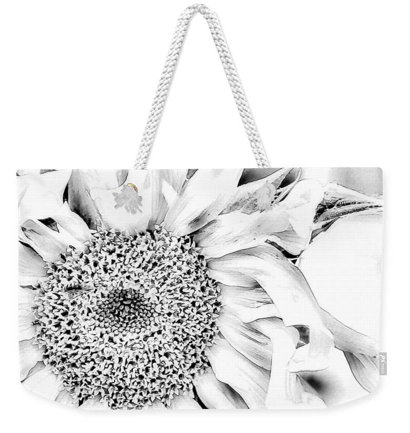 Sunflower Weekender Tote Bag featuring the photograph Sunflower In Relief by Alice Gipson