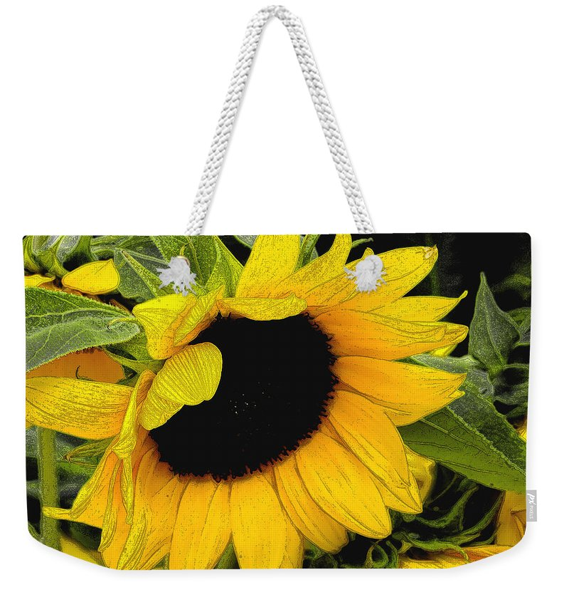 Sunflower Weekender Tote Bag featuring the photograph Sunflower by James C Thomas