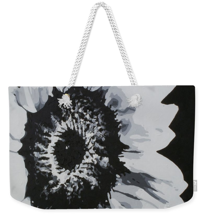 Sunflower Weekender Tote Bag featuring the painting Sunflower by Katharina Filus