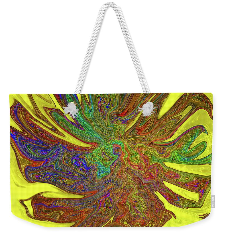 Abstract Weekender Tote Bag featuring the photograph Sunflower by Kathy Moll