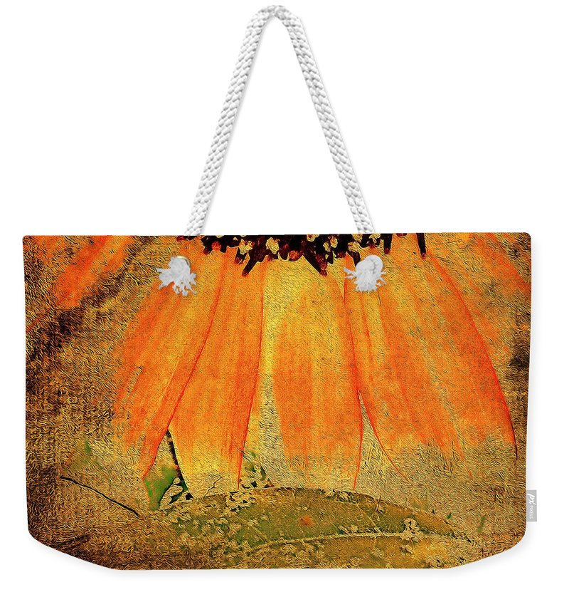 Flora Weekender Tote Bag featuring the photograph Sunflower Montage by Kathy Bassett
