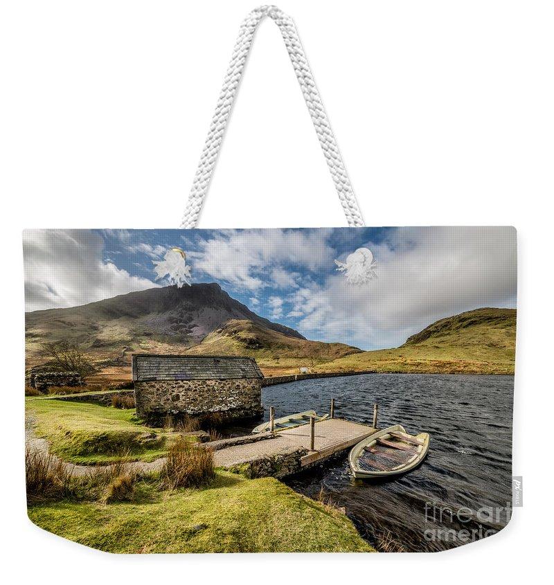 Beddgelert Weekender Tote Bag featuring the photograph Sunken Boats by Adrian Evans