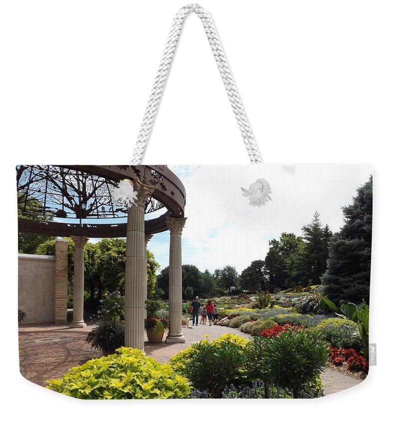Sunken Garden Weekender Tote Bag featuring the photograph Sunken Garden Ironworks 2 by Caryl J Bohn