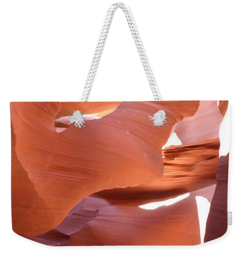 Canyon Weekender Tote Bag featuring the photograph Sunlit Canyon by Christiane Schulze Art And Photography