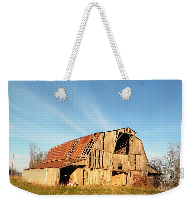 Barn Weekender Tote Bag featuring the photograph Sunny Barn by Nathanael Smith