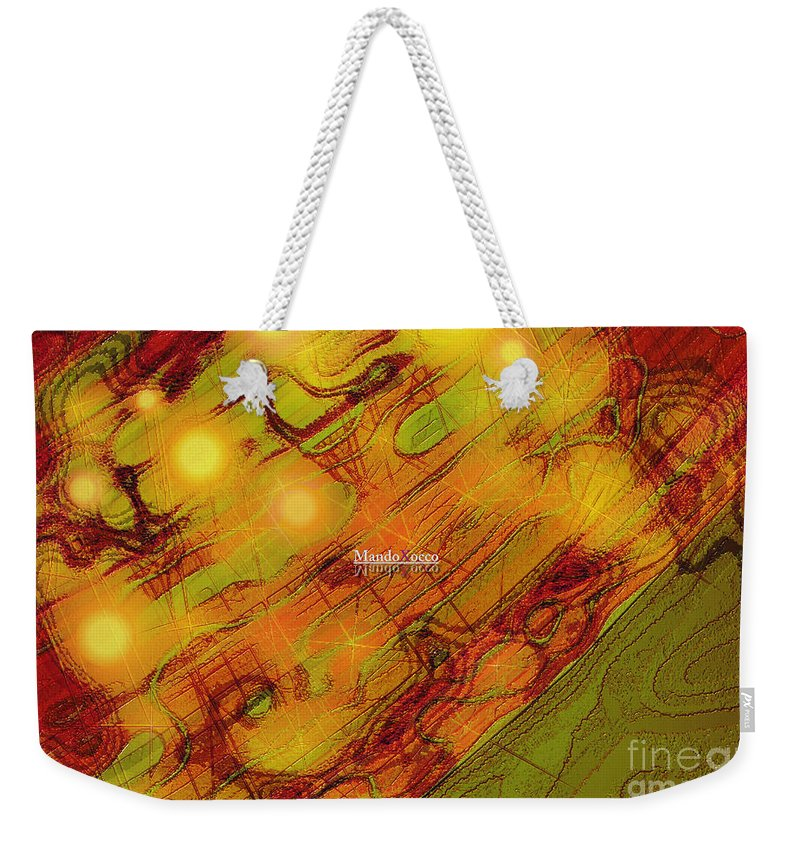 Design Weekender Tote Bag featuring the mixed media Sunny by Mando Xocco