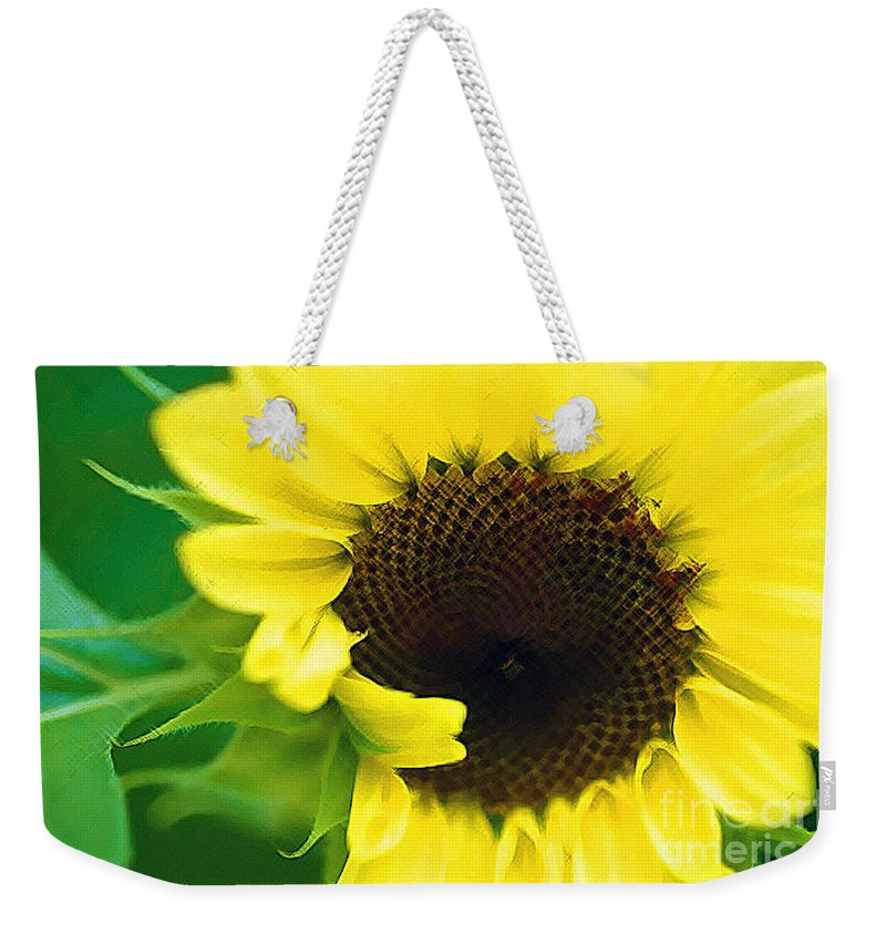 Sunflower Weekender Tote Bag featuring the photograph Sunny by Marian DeSalvo-Rodgers