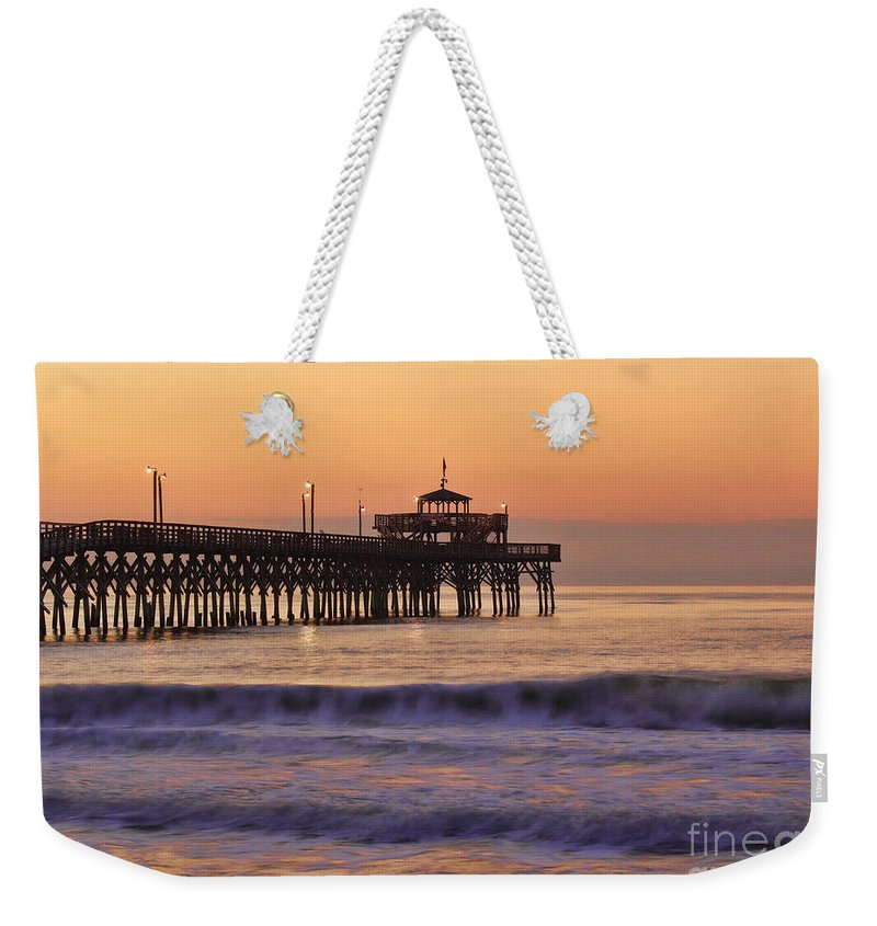 Sunrise Weekender Tote Bag featuring the photograph Sunrise At Cherry Grove by Michelle Tinger
