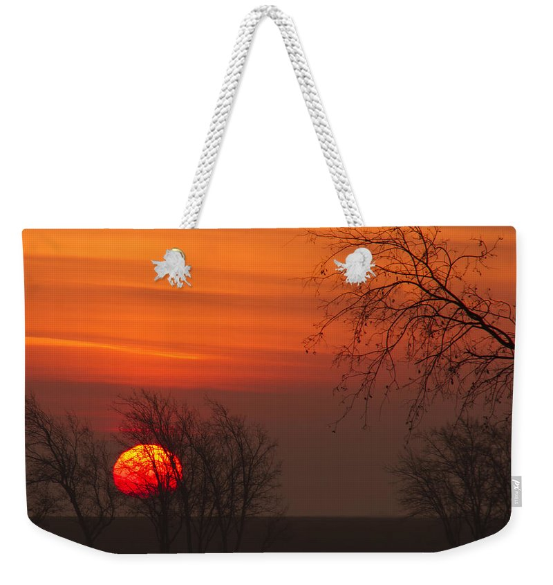 Morning Weekender Tote Bag featuring the photograph Sunrise by Debby Richards
