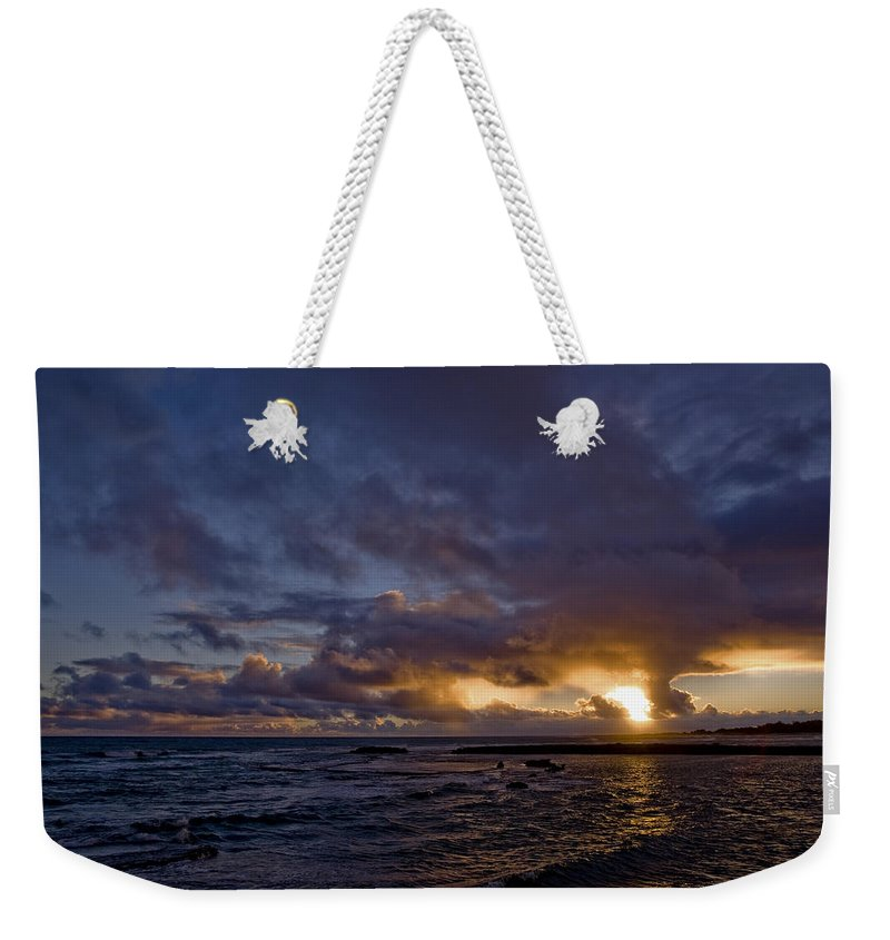 Paradise Weekender Tote Bag featuring the photograph Sunrise In Paradise by Eric Swan