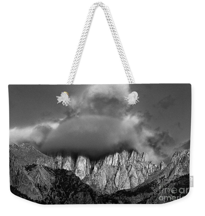 North America Weekender Tote Bag featuring the photograph Sunrise On Mount Whitney Eastern Sierras California by Dave Welling
