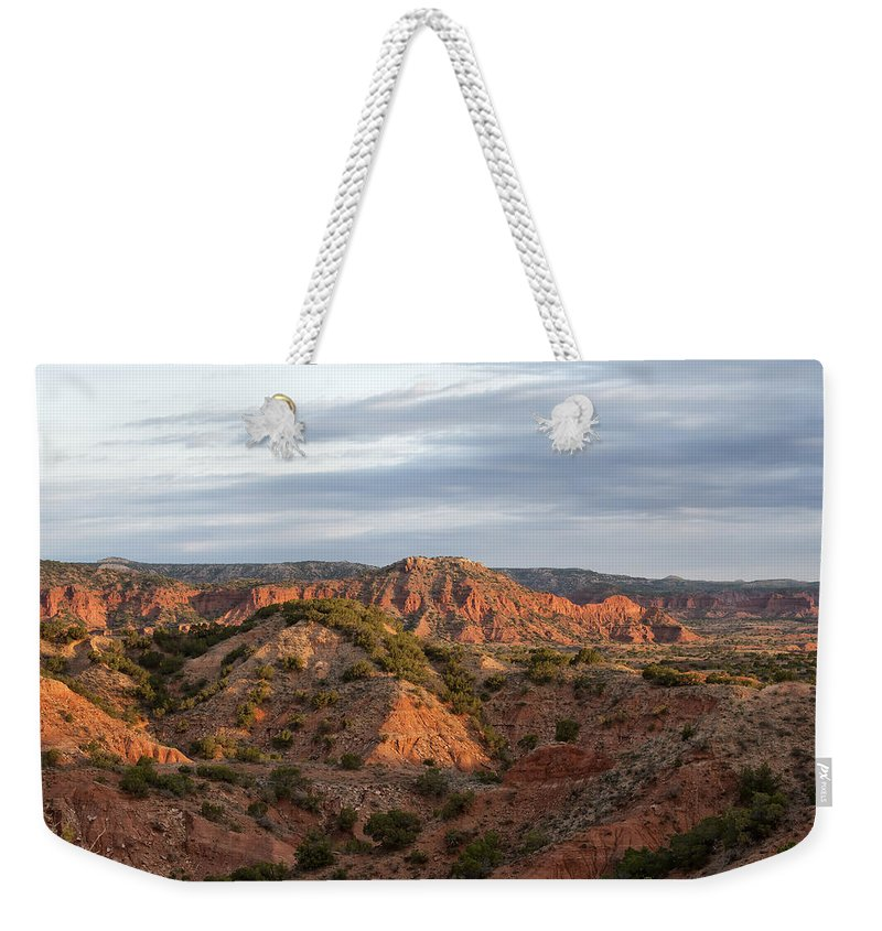 Barren Weekender Tote Bag featuring the photograph Sunrise Over God's Country by Melany Sarafis