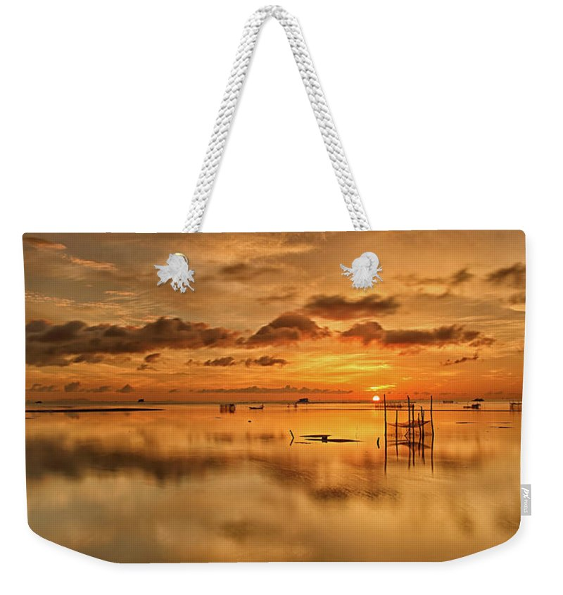 Scenics Weekender Tote Bag featuring the photograph Sunrise, Phu Quoc, Vietnam by Huyenhoang