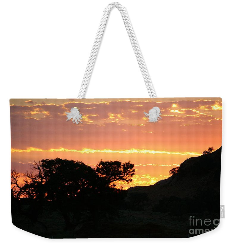 Outdoors Weekender Tote Bag featuring the photograph Sunrise Scenery by Susan Herber