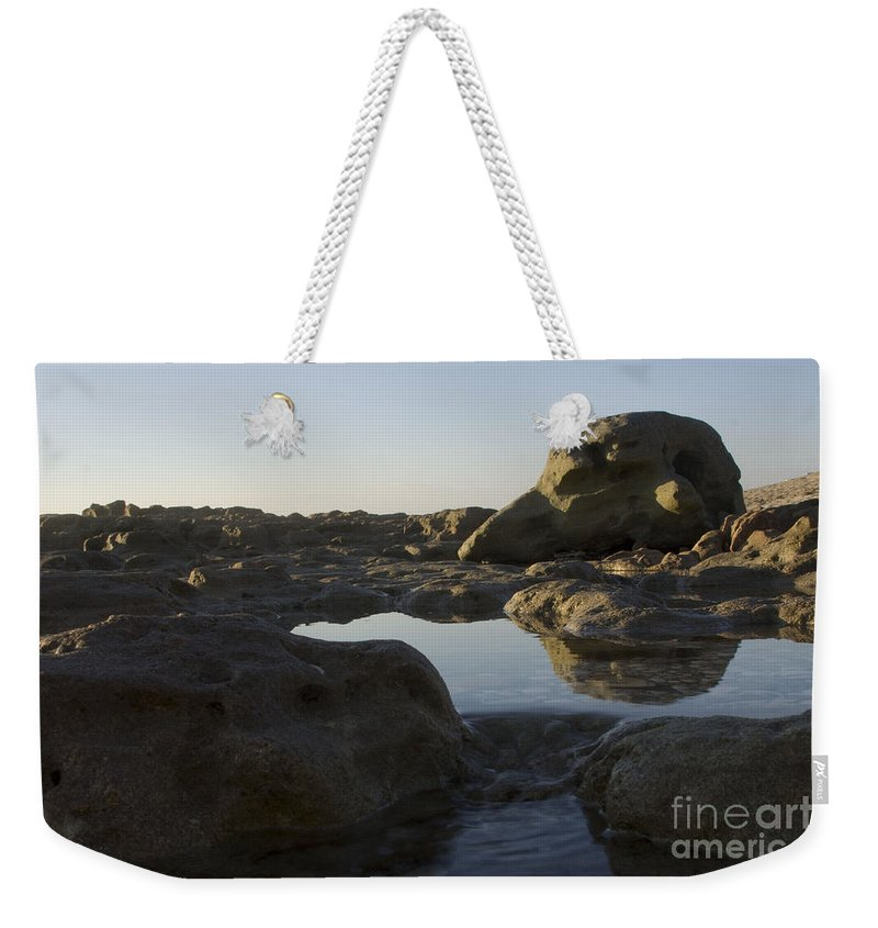 Reflections Weekender Tote Bag featuring the photograph Sunrise Tidal Pool View by Darleen Stry