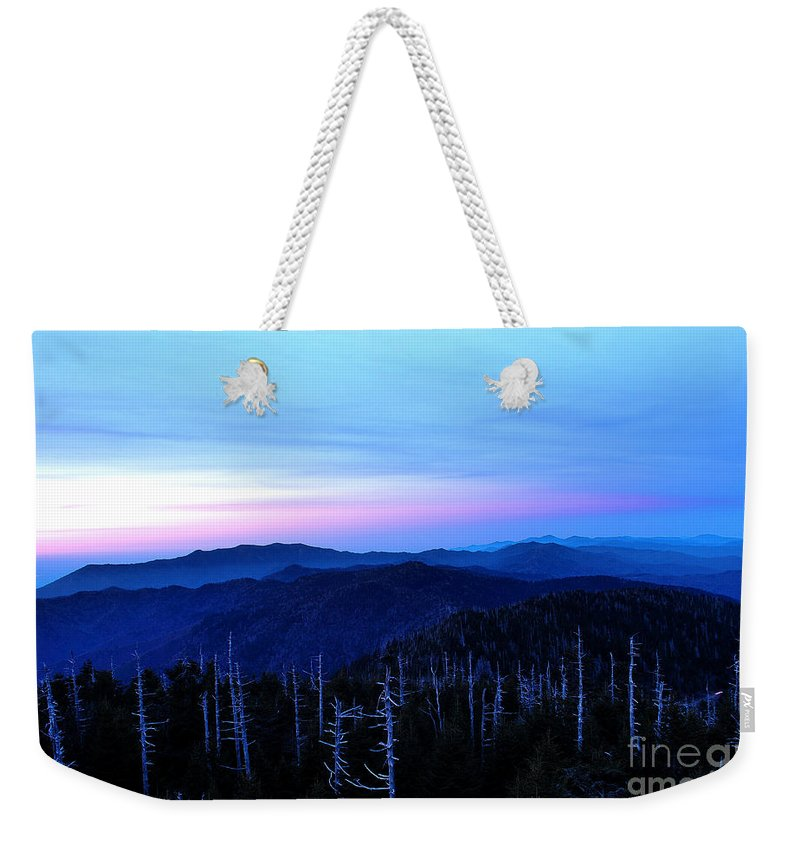 Clingman's Dome Weekender Tote Bag featuring the photograph Sunset At Clingman's Dome by Nancy Mueller