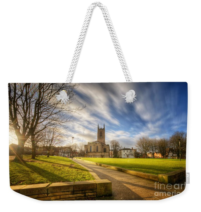 Yhun Suarez Weekender Tote Bag featuring the photograph Sunset At Derby Cathedral Park by Yhun Suarez
