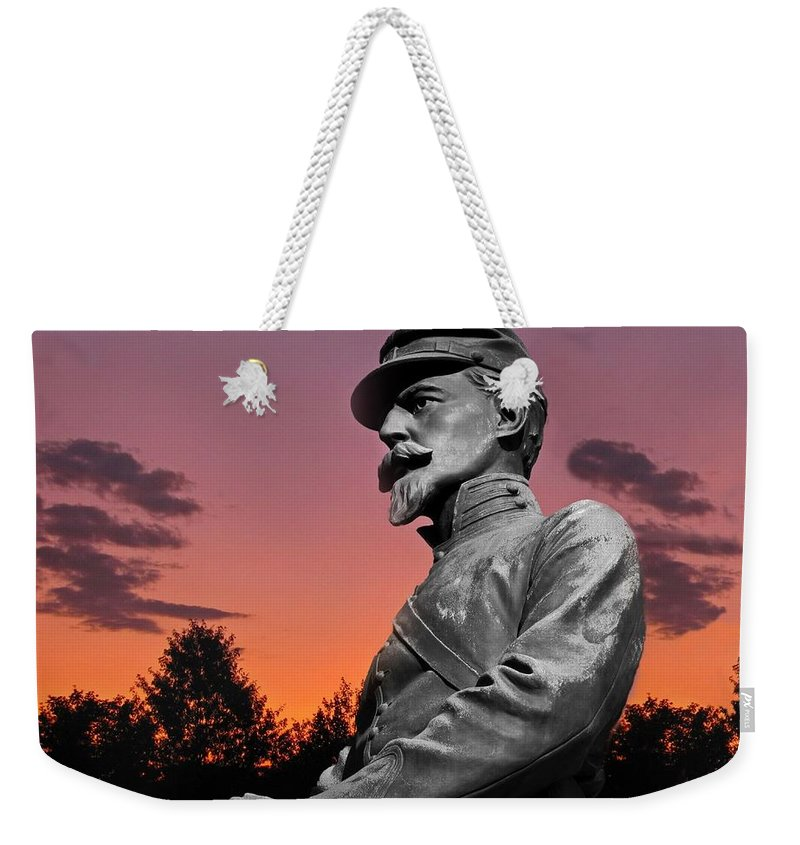 Civil War Weekender Tote Bag featuring the photograph Sunset At Gettysburg by David Dehner