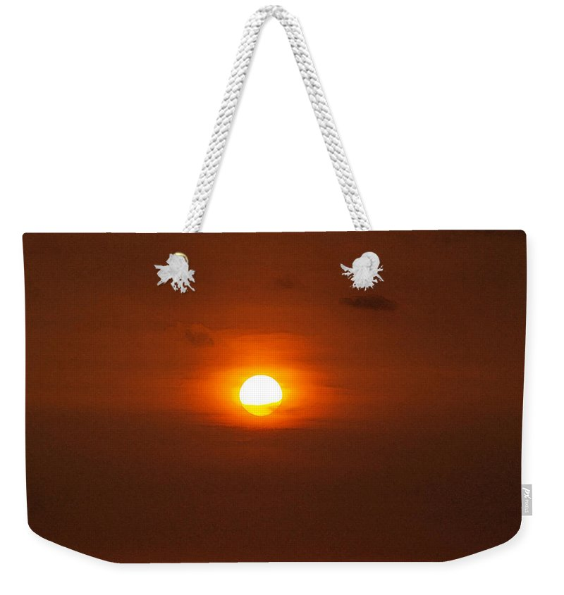 Sunset Photographs Weekender Tote Bag featuring the photograph Sunset by Athala Carole Bruckner