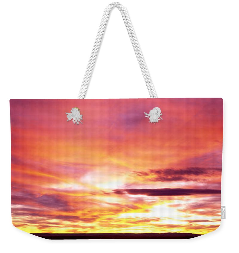 Photography Weekender Tote Bag featuring the photograph Sunset, Canyon De Chelly, Arizona, Usa by Panoramic Images