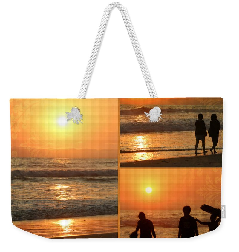 Collage Weekender Tote Bag featuring the photograph Sunset - Orange Beach Collage by Kip Krause