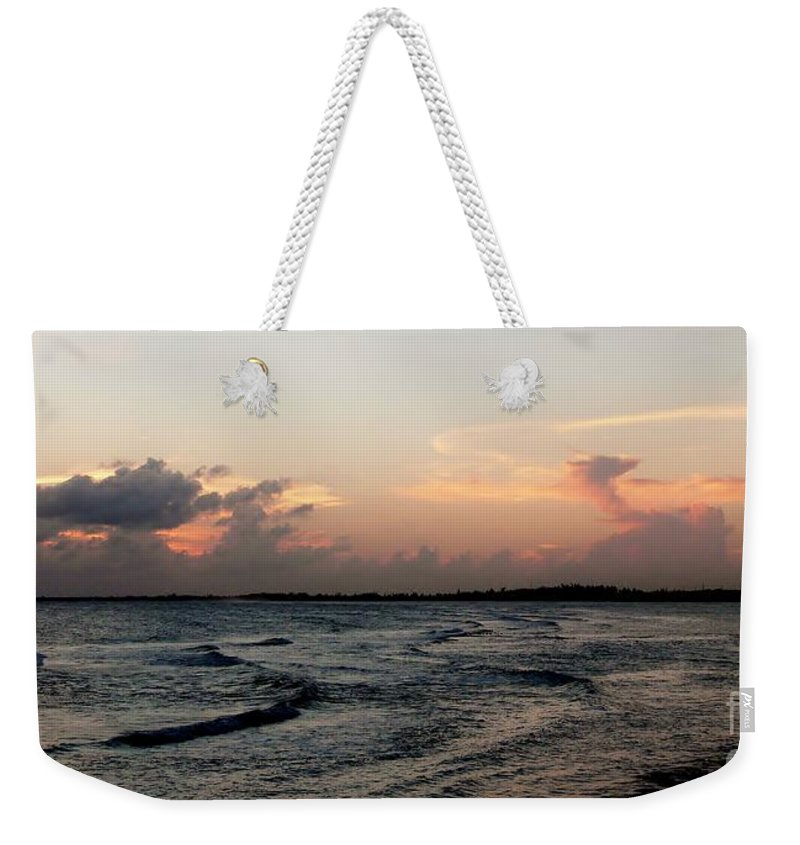 Color Weekender Tote Bag featuring the photograph Sunset Dragon by Amar Sheow