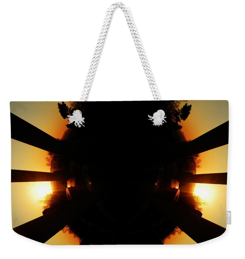 Sunrise Weekender Tote Bag featuring the photograph Sunset Folly by Neil Finnemore