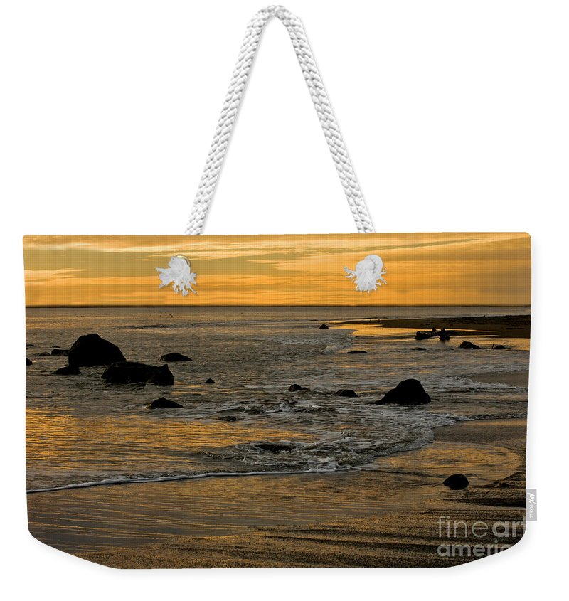 Beach Weekender Tote Bag featuring the photograph Sunset From Damon Point by Anthony Mercieca