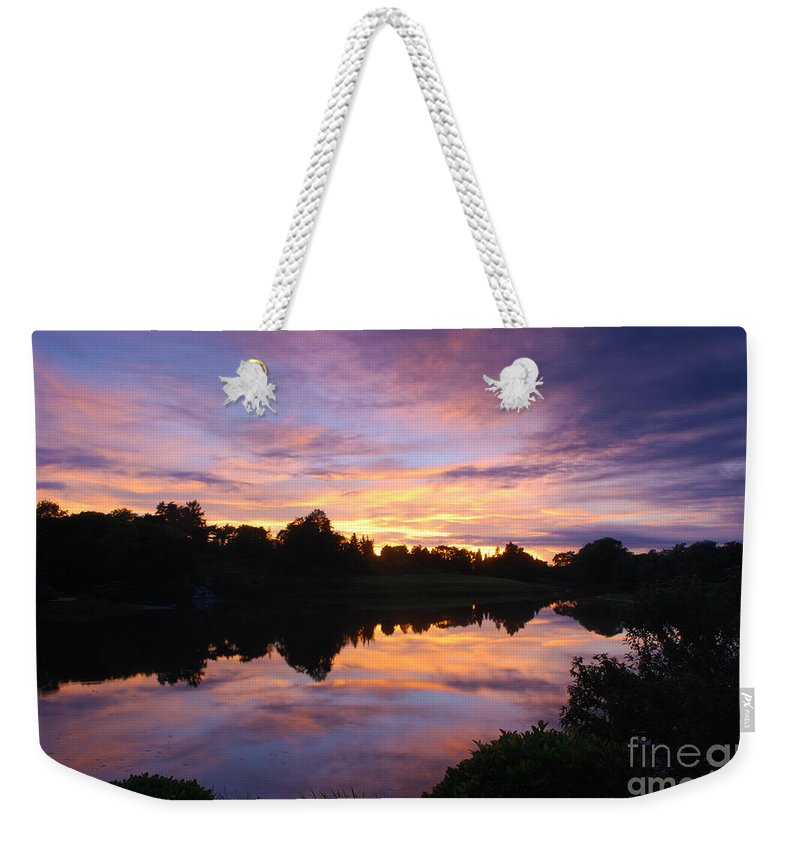 Sunset Weekender Tote Bag featuring the photograph Sunset II At Japanese Garden by Nancy Mueller