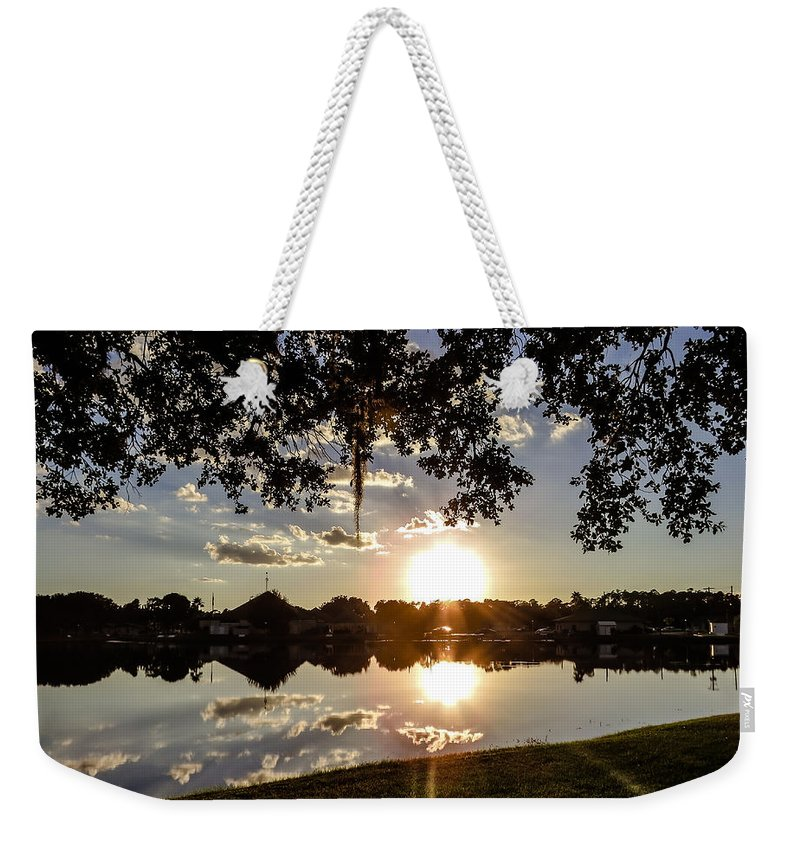 Sunset Weekender Tote Bag featuring the photograph Sunset In Florida by Zina Stromberg