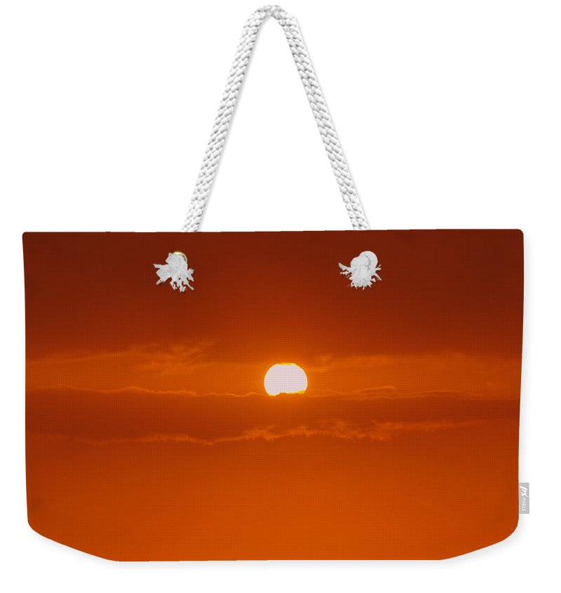 Sun Rise Weekender Tote Bag featuring the photograph Sunset In Kona by Athala Carole Bruckner