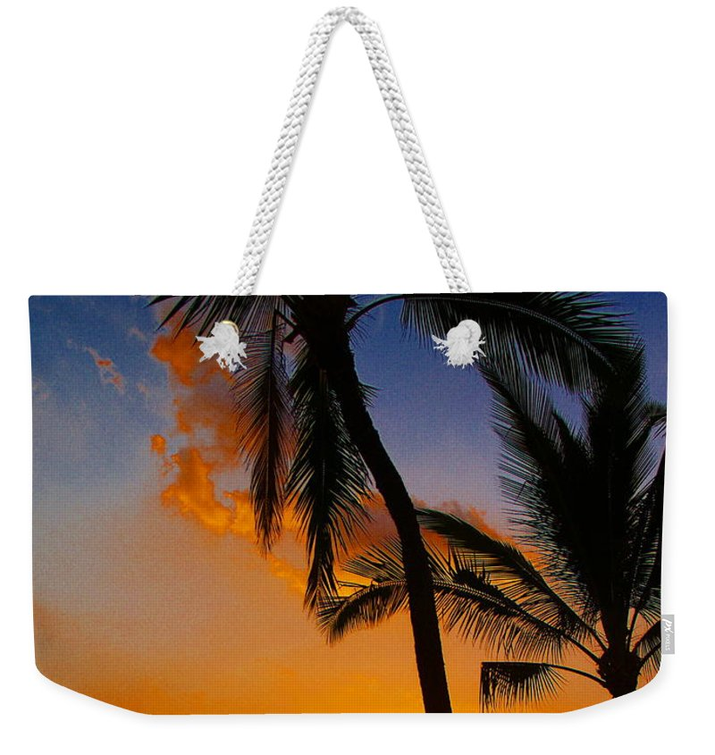 Sunset Weekender Tote Bag featuring the photograph Sunset In Paradise by Athala Carole Bruckner