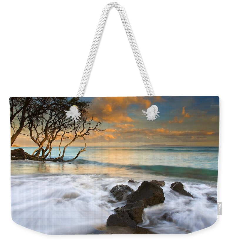 Sunset Weekender Tote Bag featuring the photograph Sunset In Paradise by Mike Dawson