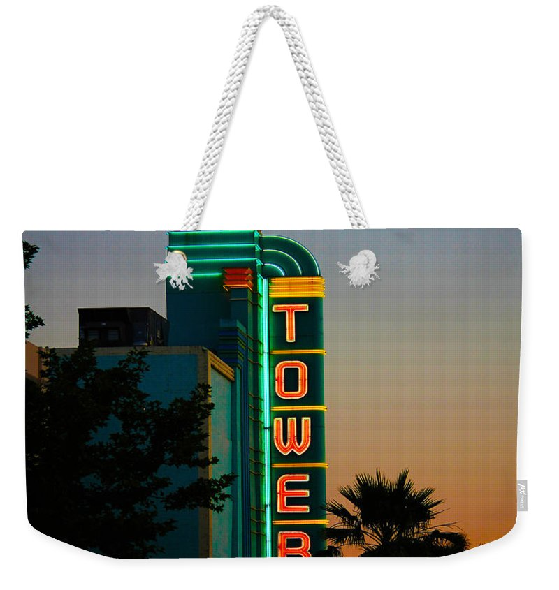 Tower Theater Weekender Tote Bag featuring the photograph Sunset In The Ville by Digital Kulprits